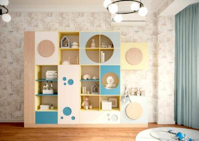 Яркая мебель для игровой комнаты мальчика — проект 4527