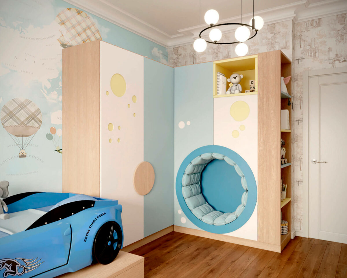Мебель игровой комнаты мальчика проект 4527-4