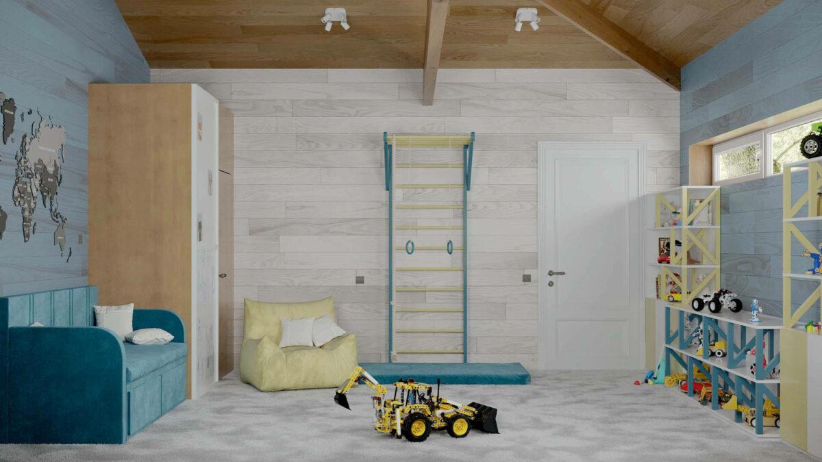 Мебель игровой комнаты мальчика проект 5089-1-1