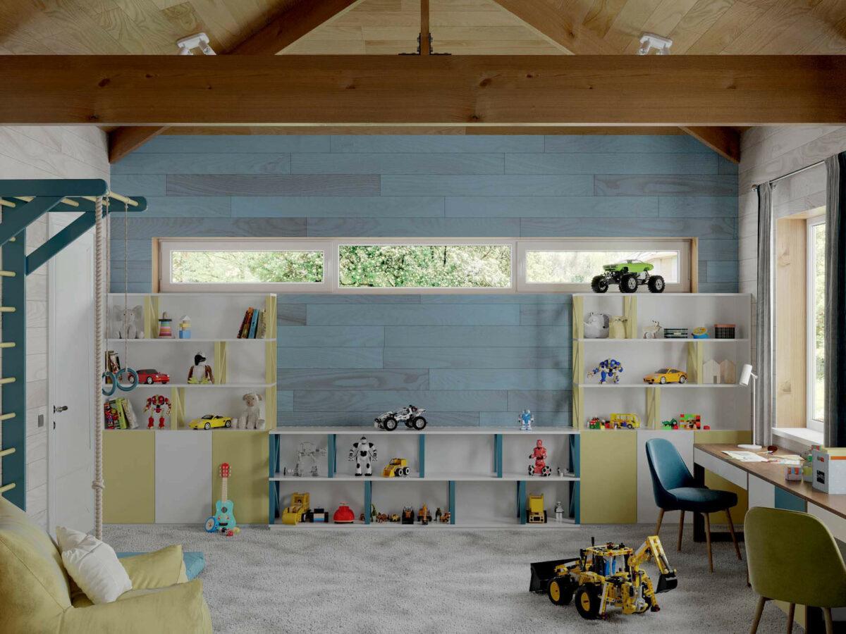 Мебель игровой комнаты мальчика проект 5089-1-2