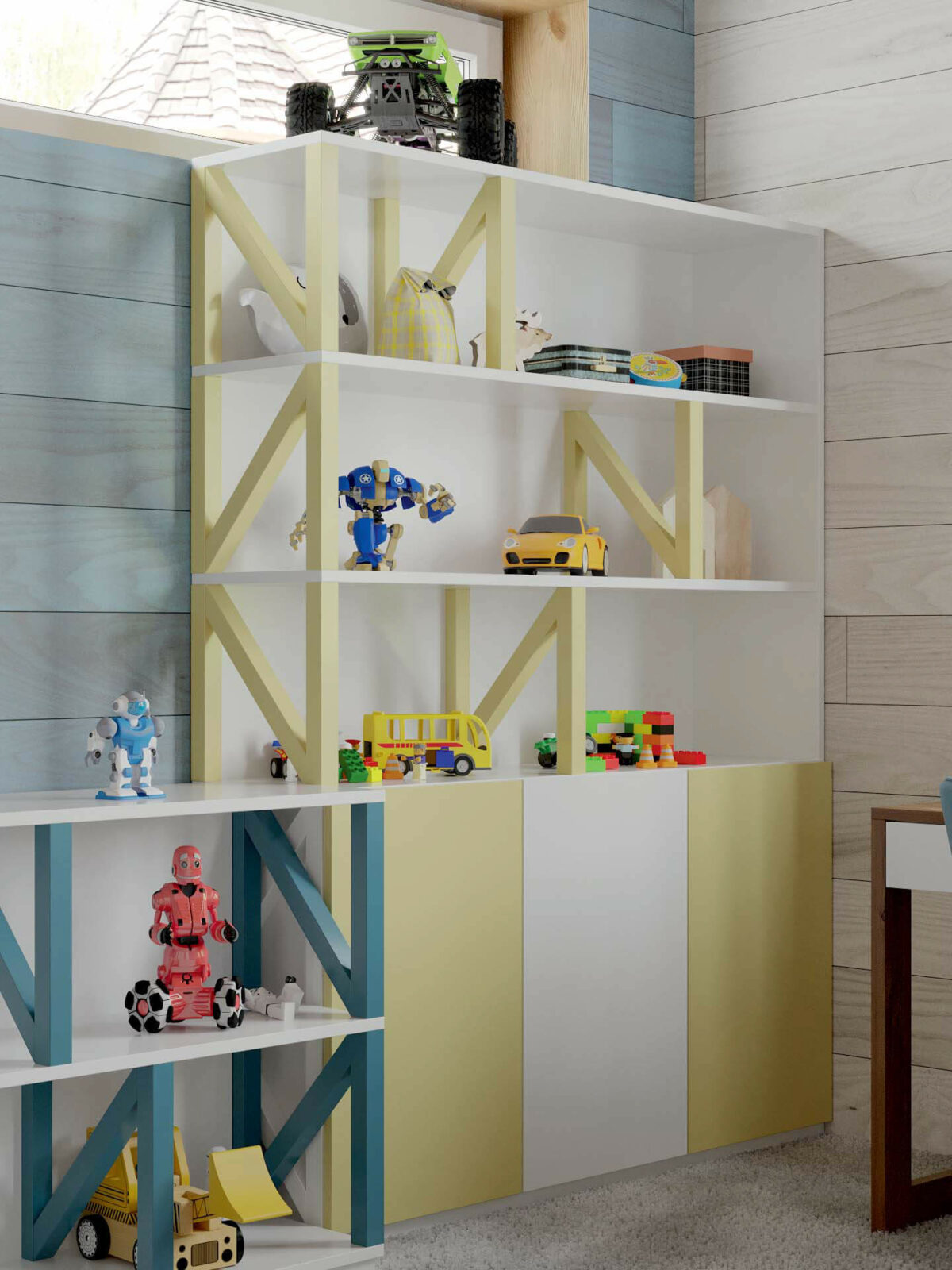 Мебель игровой комнаты мальчика проект 5089-1-3