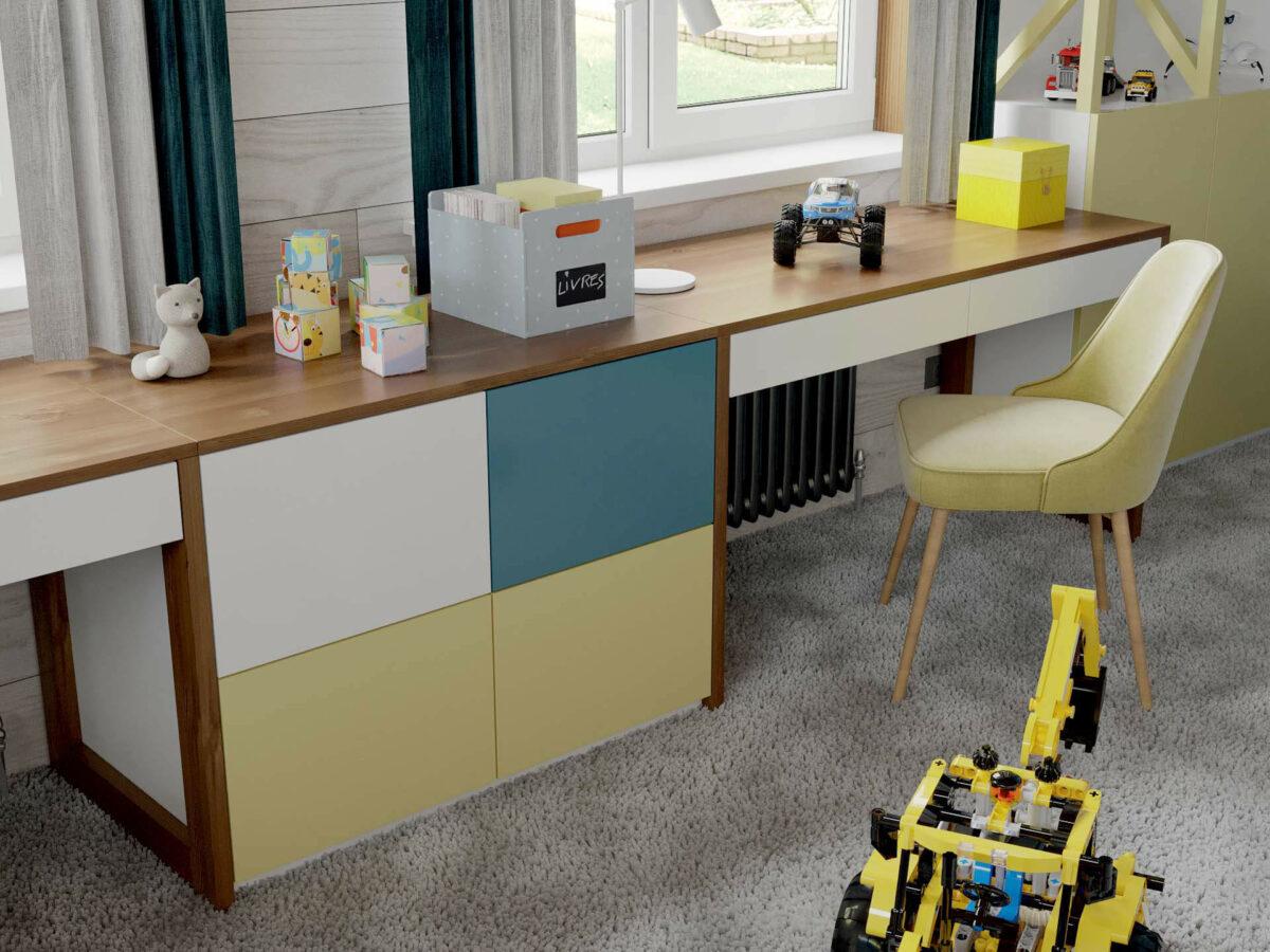 Мебель игровой комнаты мальчика проект 5089-1-4