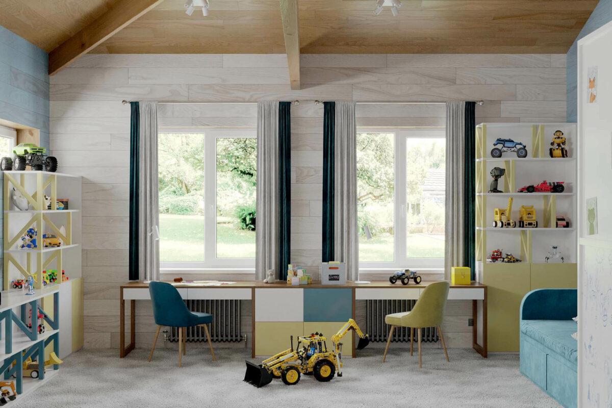 Мебель игровой комнаты мальчика проект 5089-1-5