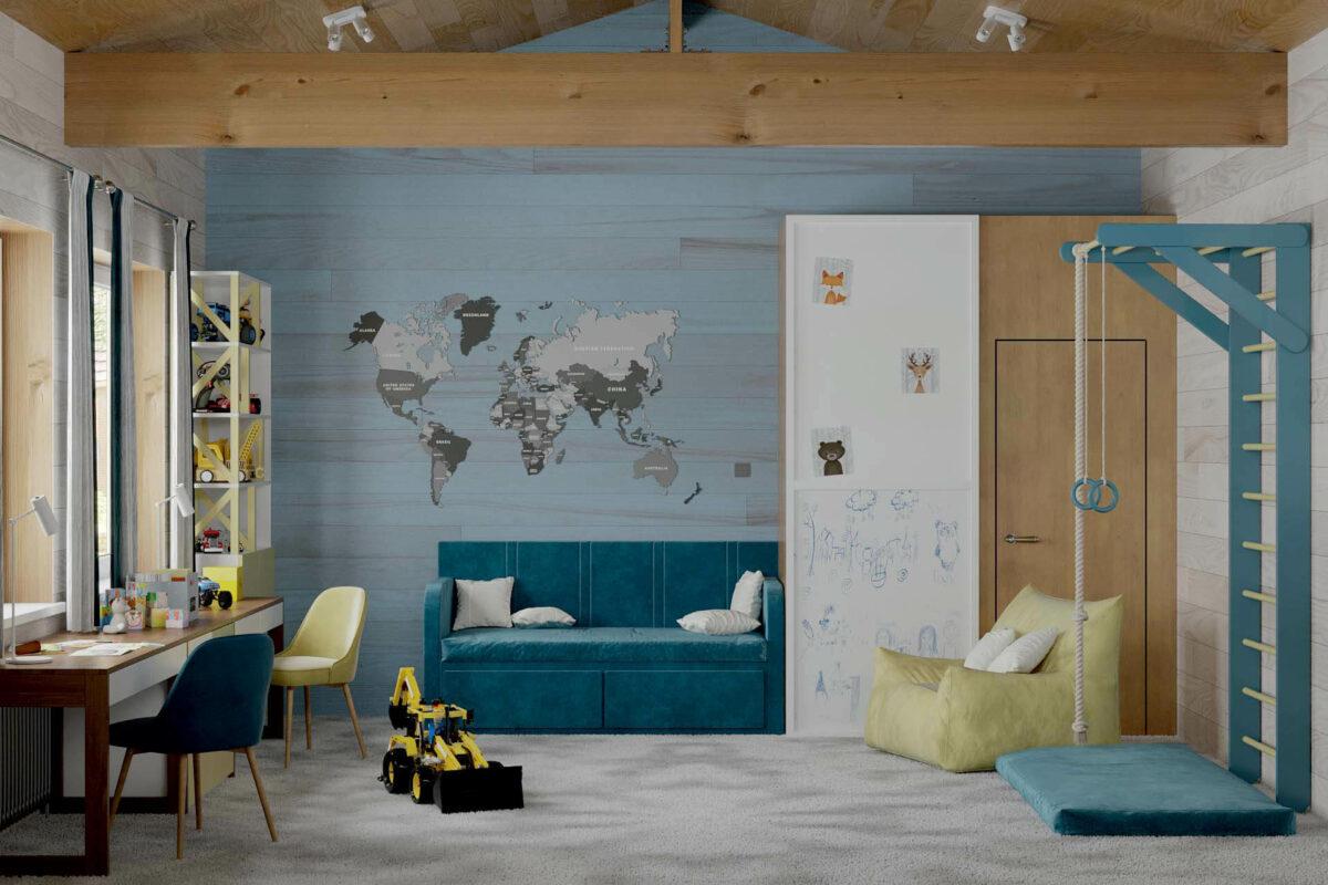 Мебель игровой комнаты мальчика проект 5089-1-6
