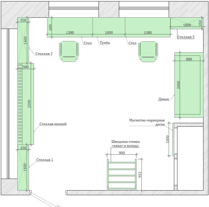 Мебель игровой комнаты мальчика проект 5089-1-8
