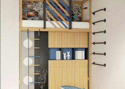 Функциональная мебель в игровую комнату мальчика 9 лет — проект 4009