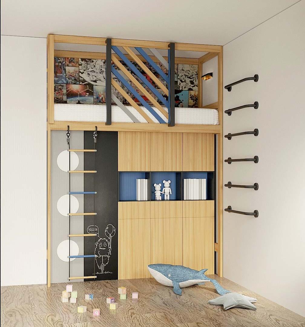 Мебель игровой комнаты мальчика 9 лет проект 4009-1
