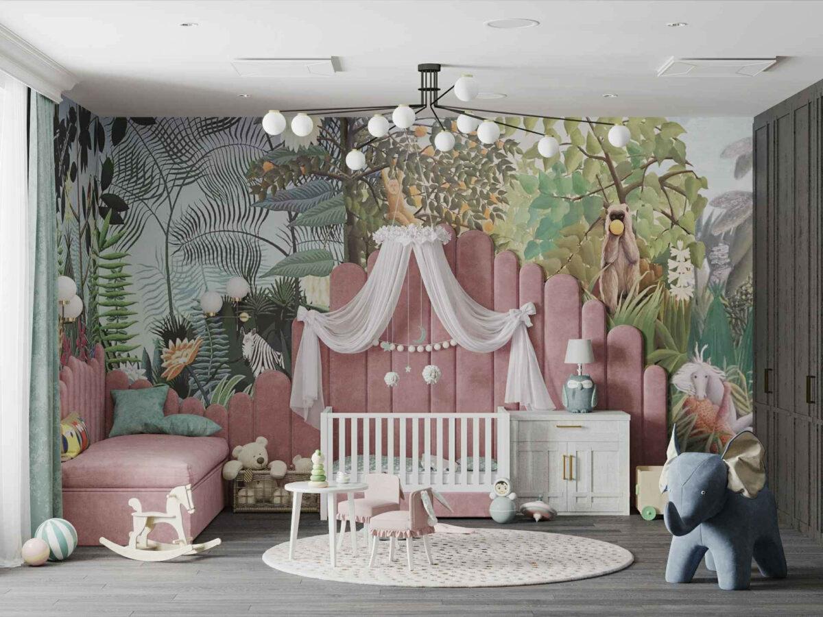 Мебель игровой комнаты маленькой девочки проект 4071-1
