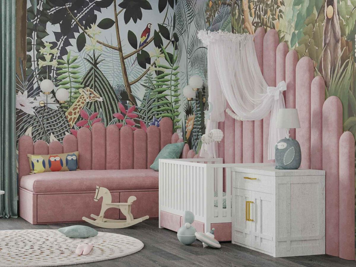 Мебель игровой комнаты маленькой девочки проект 4071-2
