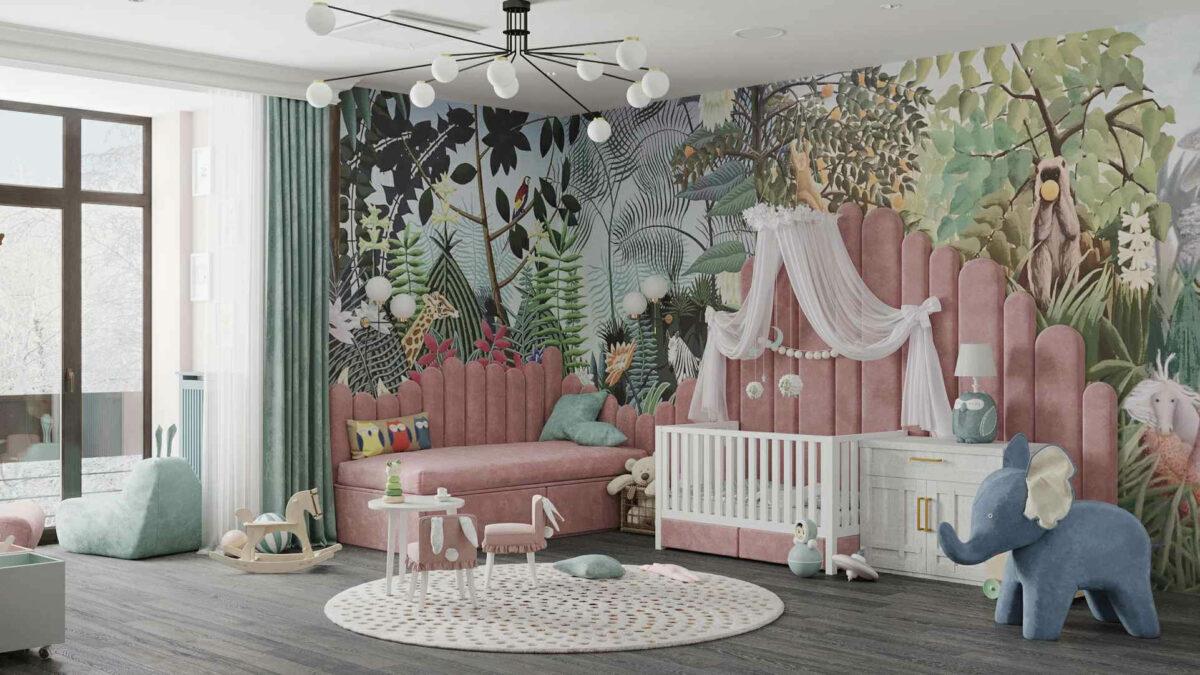 Мебель игровой комнаты маленькой девочки проект 4071-5