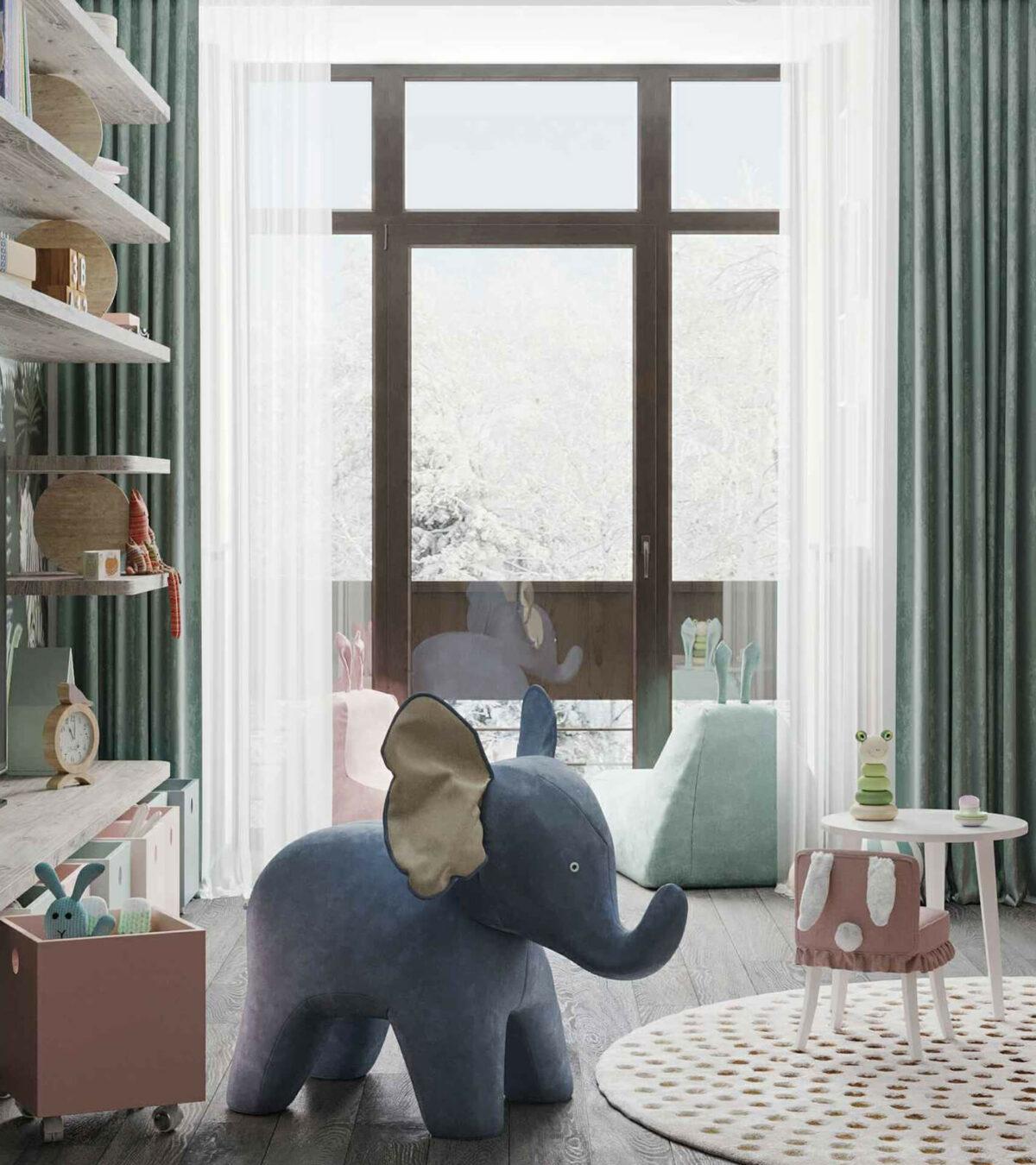 Мебель игровой комнаты маленькой девочки проект 4071-7
