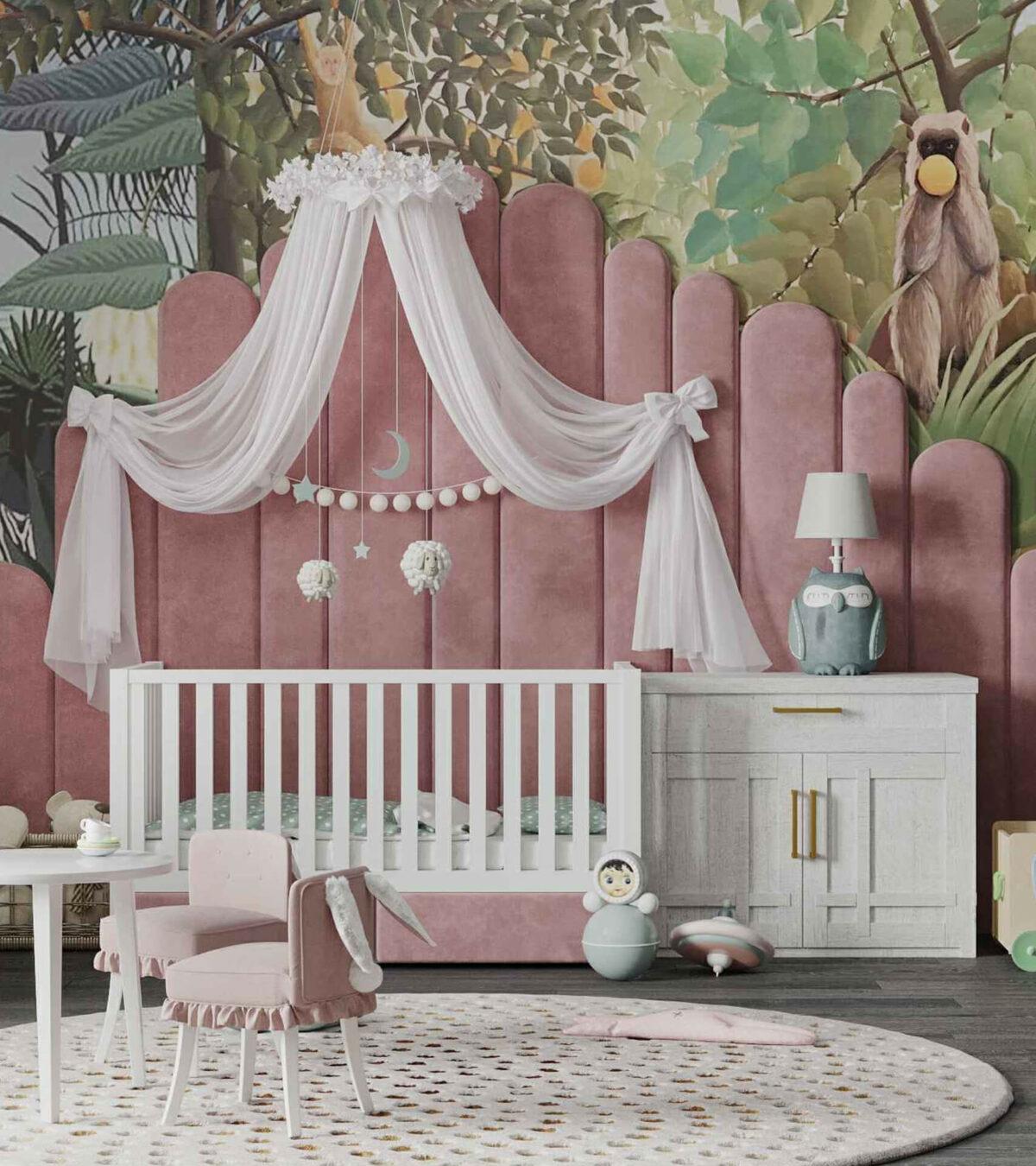 Мебель игровой комнаты маленькой девочки проект 4071-8