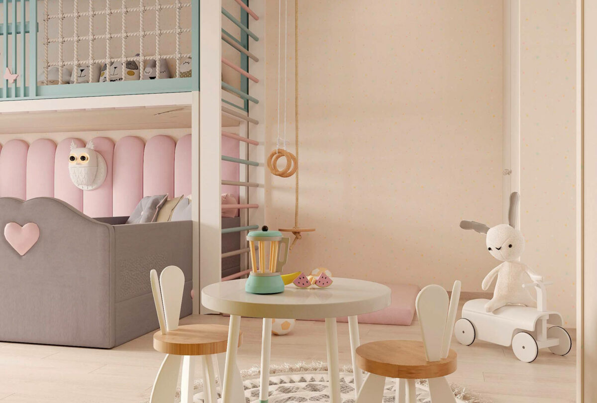 Мебель в детскую для девочки 3-5 лет проект 3615-1