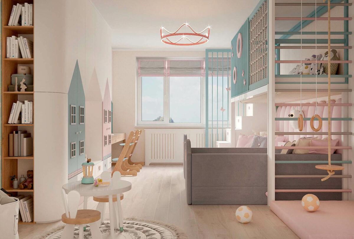 Мебель в детскую для девочки 3-5 лет проект 3615-4