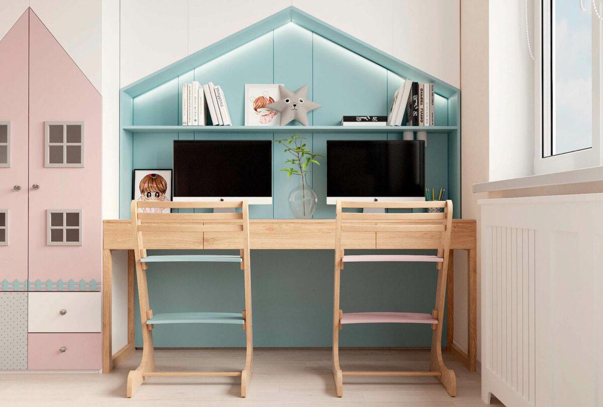 Мебель в детскую для девочки 3-5 лет проект 3615-5