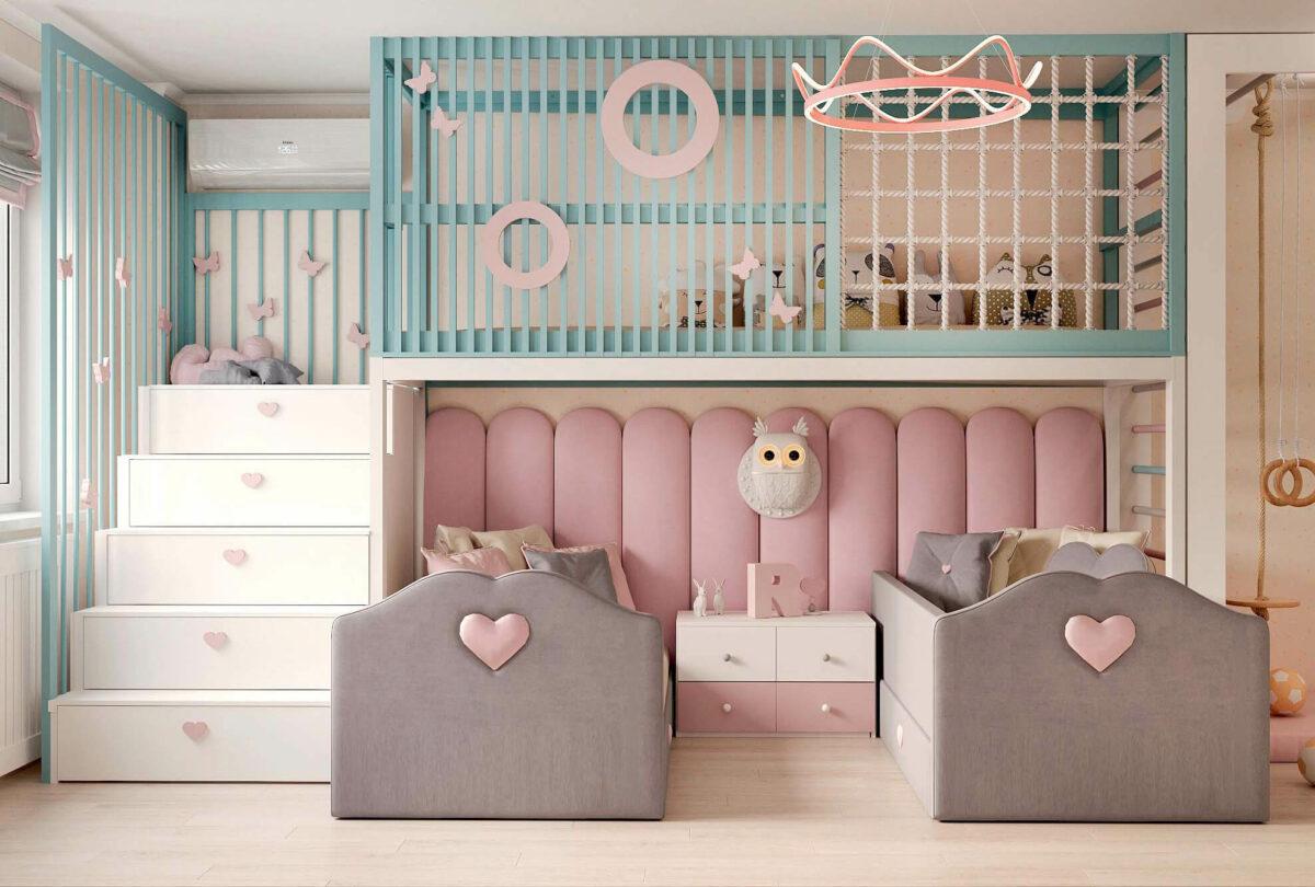 Мебель в детскую для девочки 3-5 лет проект 3615-6