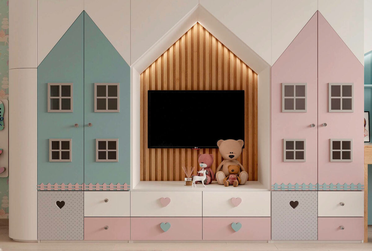 Мебель в детскую для девочки 3-5 лет проект 3615-7