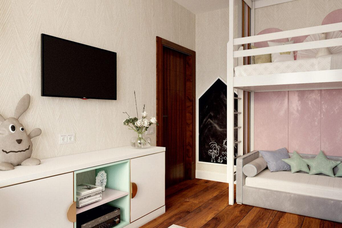 Мебель в детскую для девочки-школьницы проект 3325-2