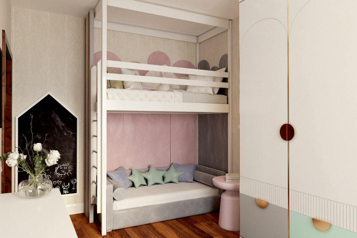 Мебель в детскую для девочки-школьницы проект 3325-3