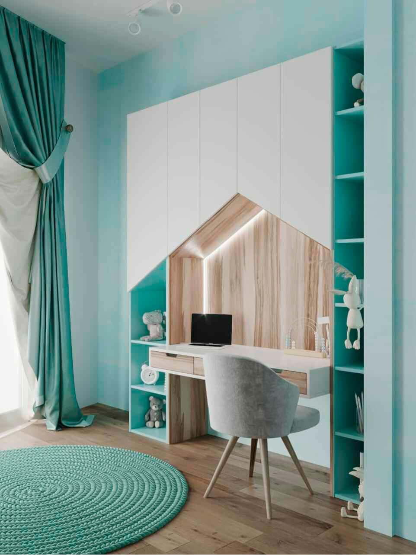 Мебель в детскую комнату девочки проект 4963-1