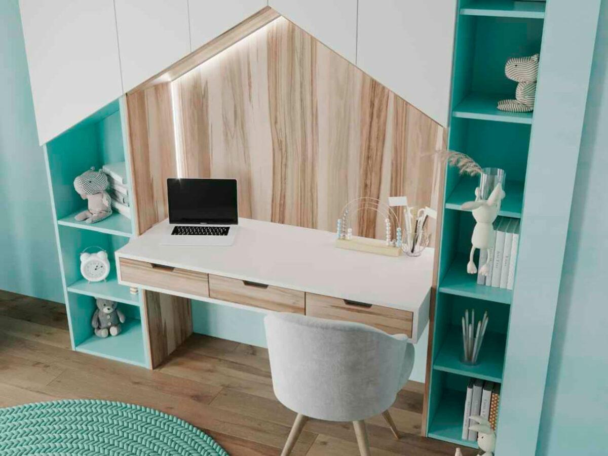 Мебель в детскую комнату девочки проект 4963-3