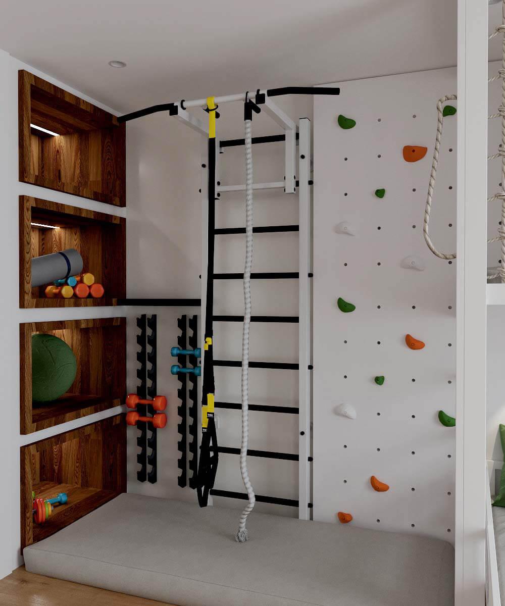 Мебель в детскую комнату для разнополых детей проект 3529-10