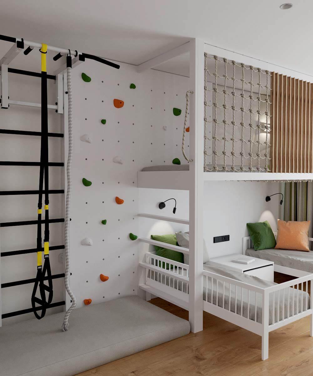 Мебель в детскую комнату для разнополых детей проект 3529-11