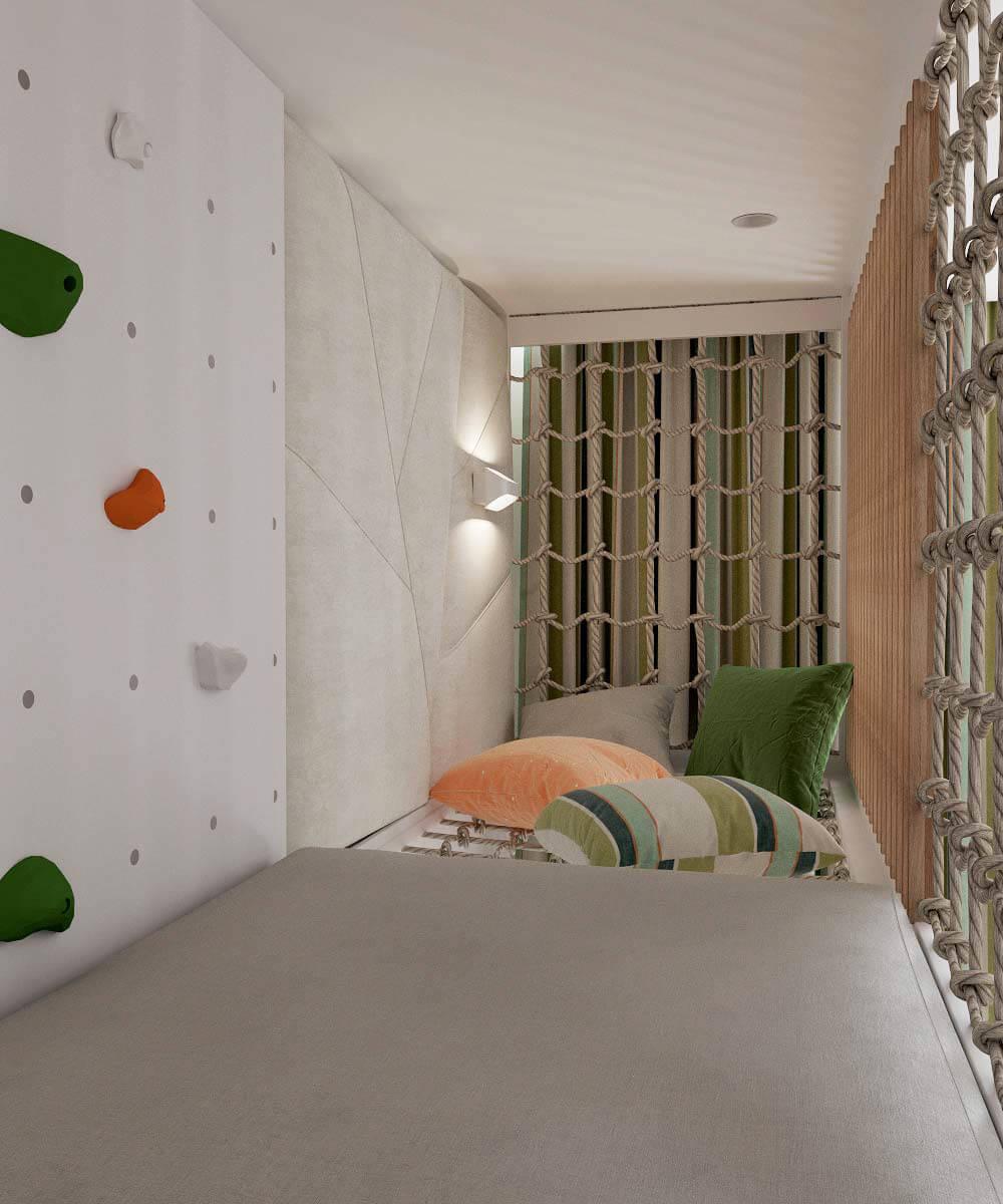 Мебель в детскую комнату для разнополых детей проект 3529-13