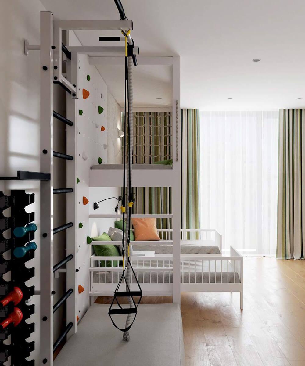 Мебель в детскую комнату для разнополых детей проект 3529-4
