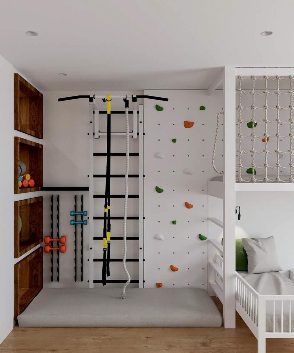 Мебель в детскую комнату для разнополых детей проект 3529-5