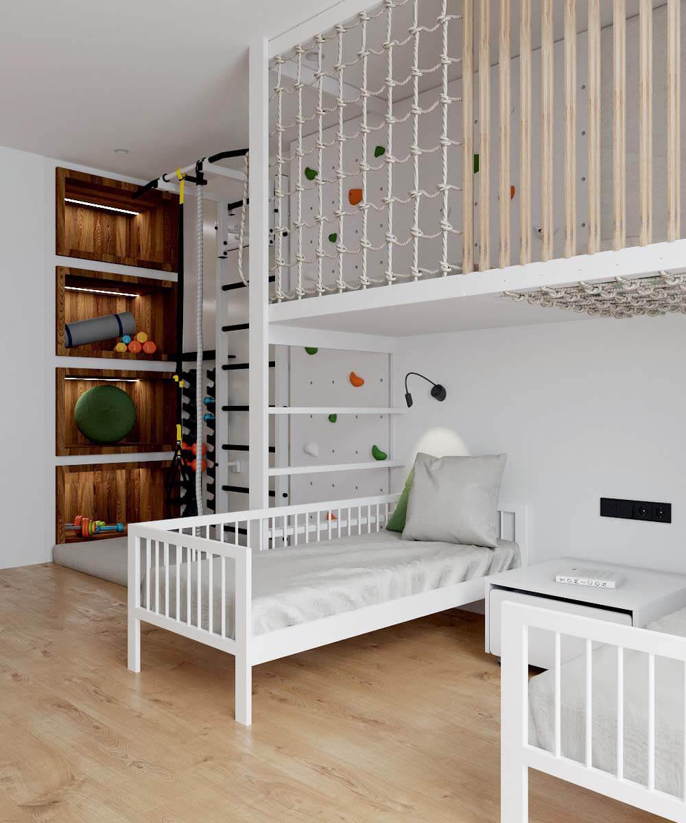 Мебель в детскую комнату для разнополых детей проект 3529-6