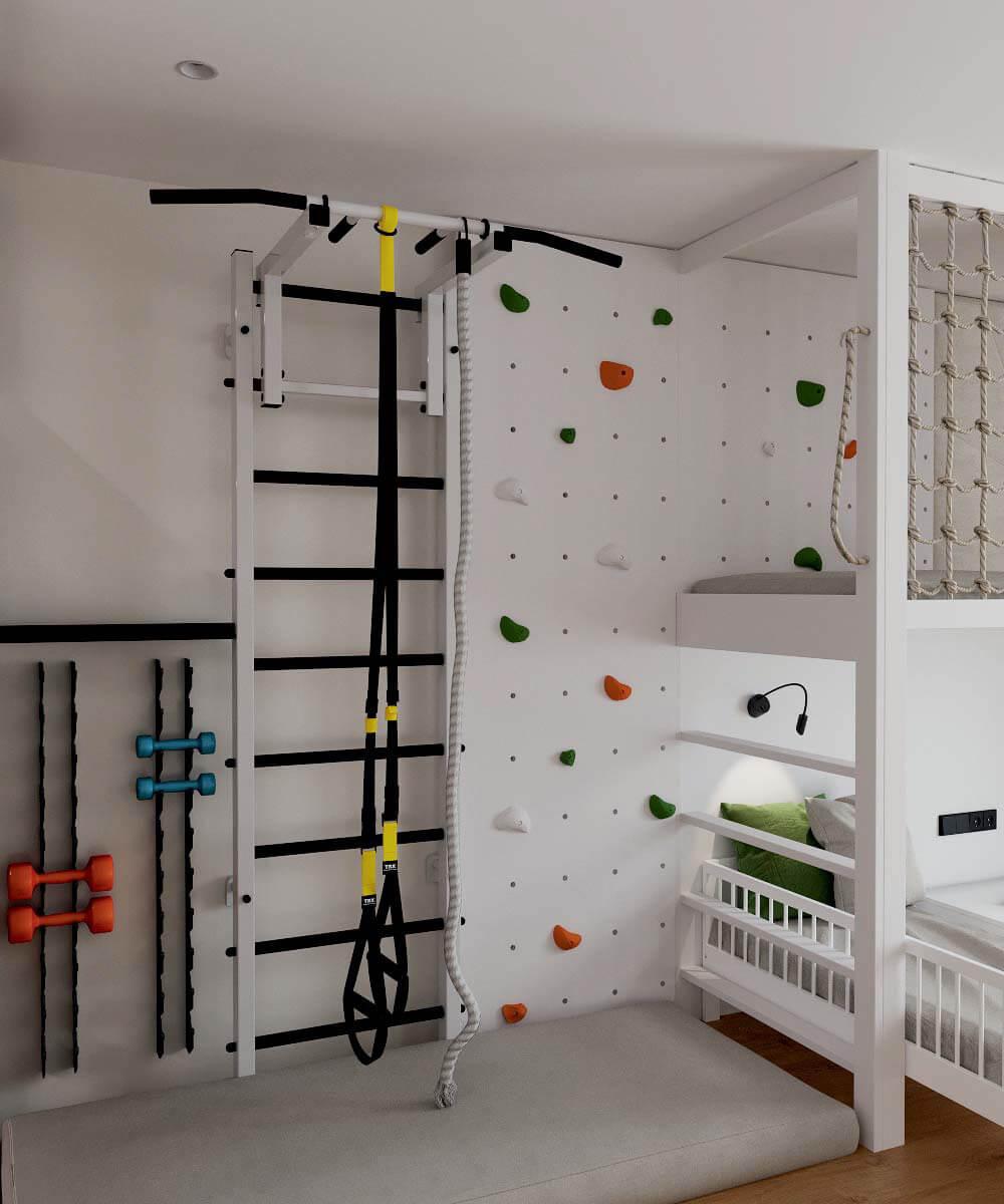 Мебель в детскую комнату для разнополых детей проект 3529-7