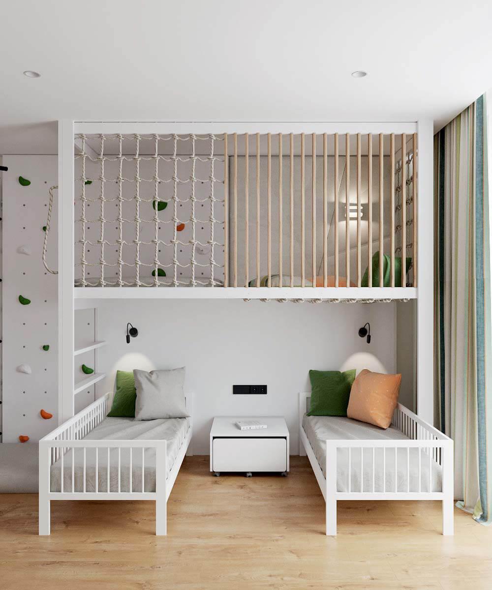 Мебель в детскую комнату для разнополых детей проект 3529-8