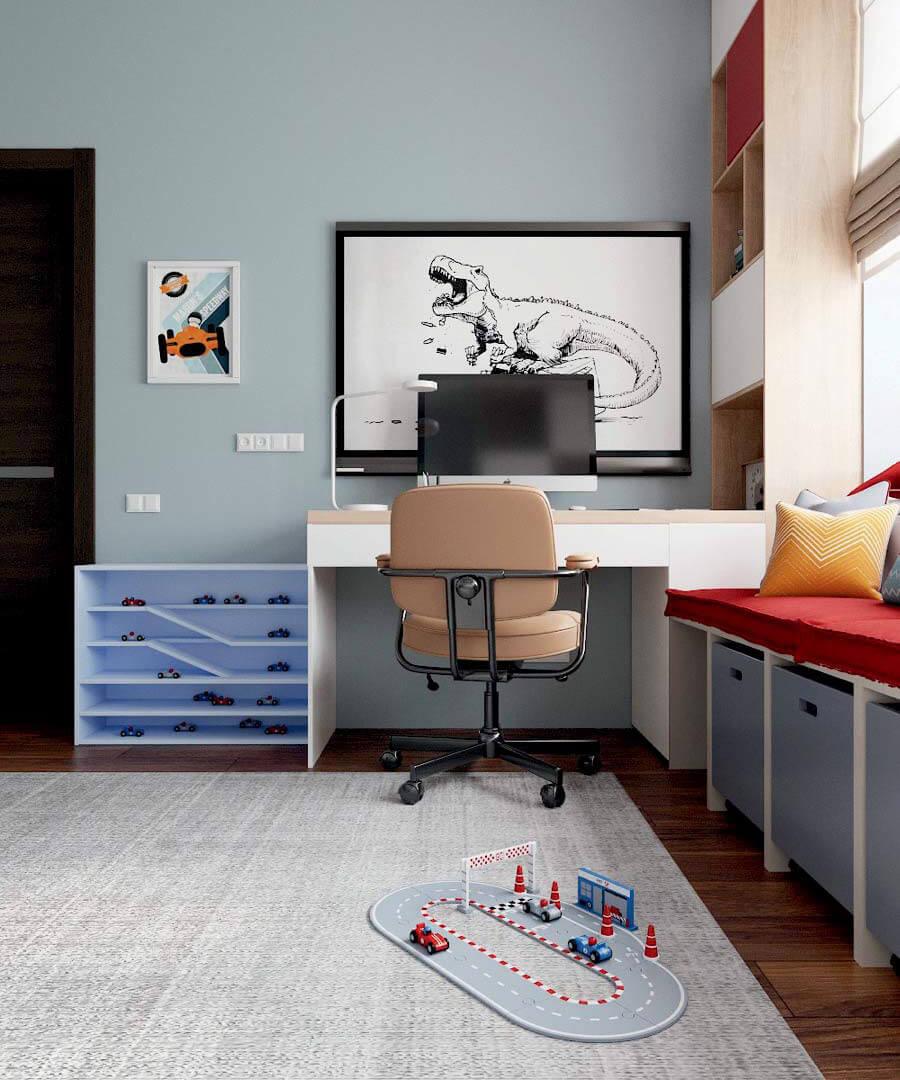 Мебель в детскую комнату мальчика проект 3803-1