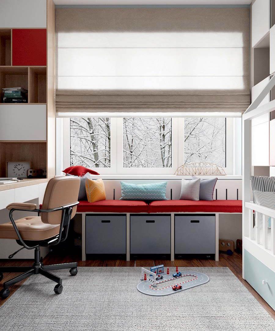 Мебель в детскую комнату мальчика проект 3803-2