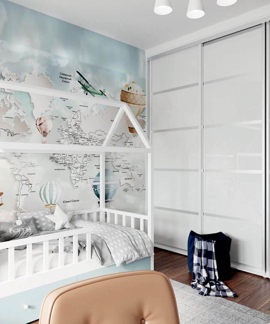 Мебель в детскую комнату мальчика проект 3803-3