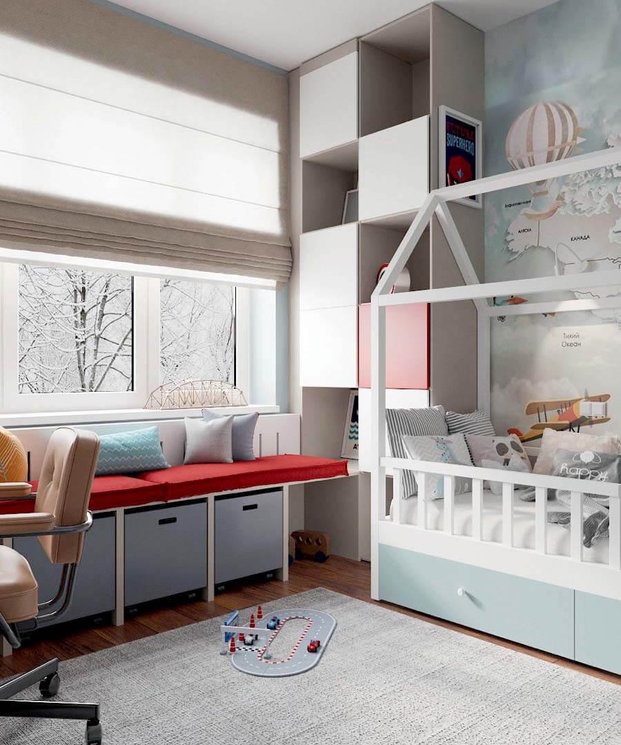 Мебель в детскую комнату мальчика проект 3803-4