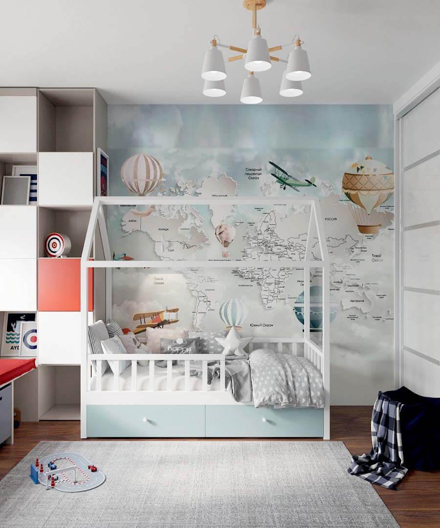 Мебель в детскую комнату мальчика проект 3803-5