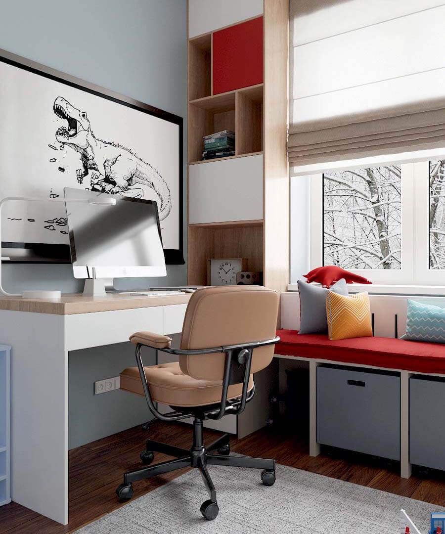 Мебель в детскую комнату мальчика проект 3803-6