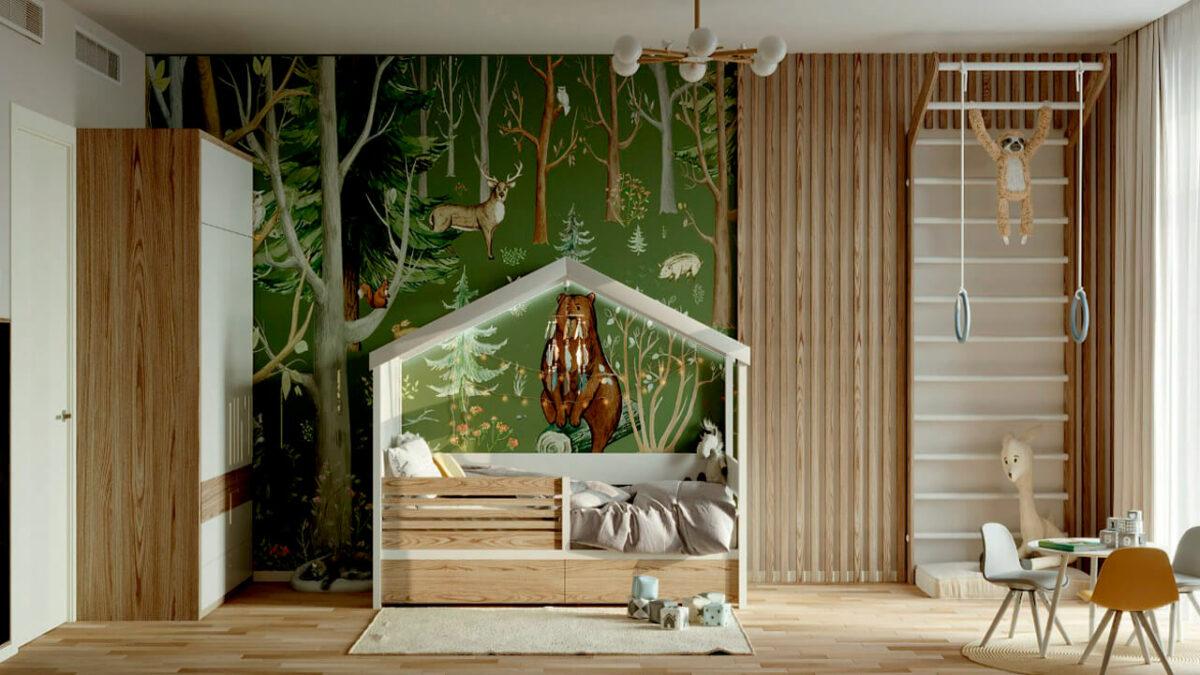 Мебель в детскую комнату мальчика проект 4059-4