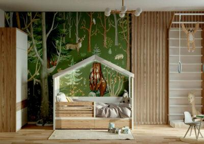 Мебель в детскую комнату мальчика 5-9 лет — проект 4059