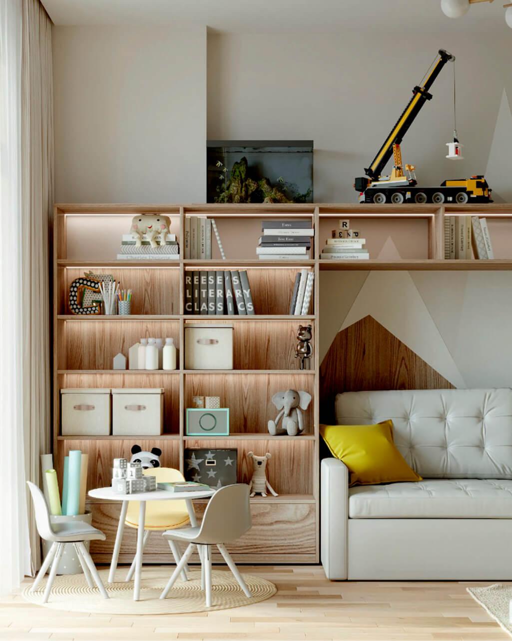 Мебель в детскую комнату мальчика проект 4059-7