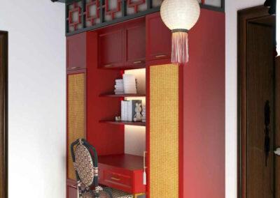 Мебель красного цвета в детскую комнату мальчиков — проект 4449