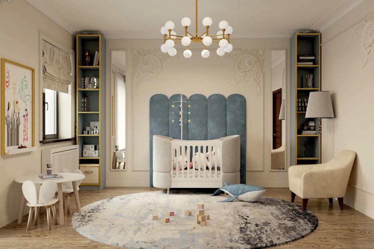 Мебель в детскую комнату новорожденного проект 3969-2