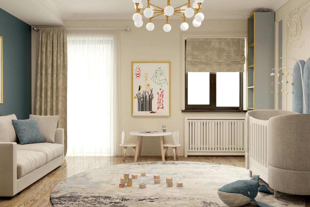 Мебель в детскую комнату новорожденного проект 3969-3