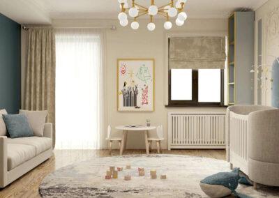 Мебель в детскую комнату новорожденного — проект 3969