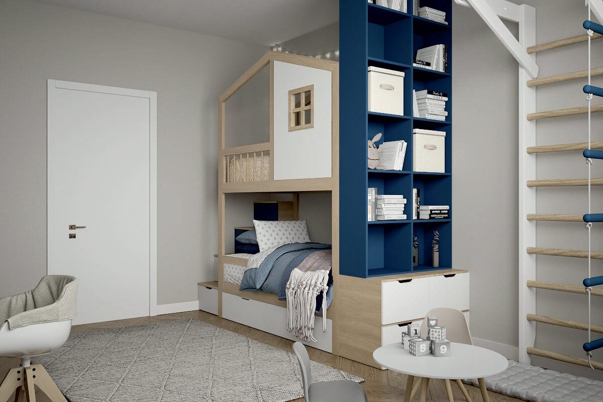 Мебель в детскую спальню 2 девочек проект 4475-4