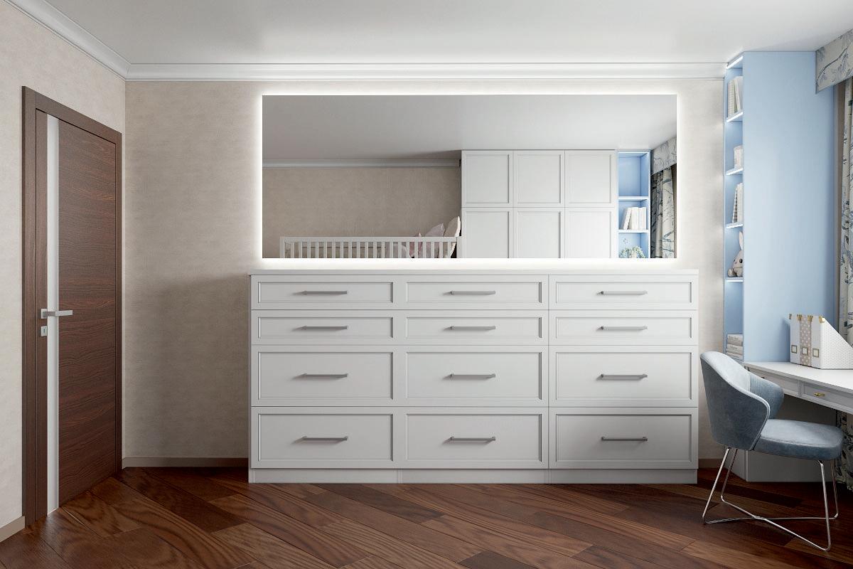 Мебель в детскую спальню 2 девочек проект 4733-2