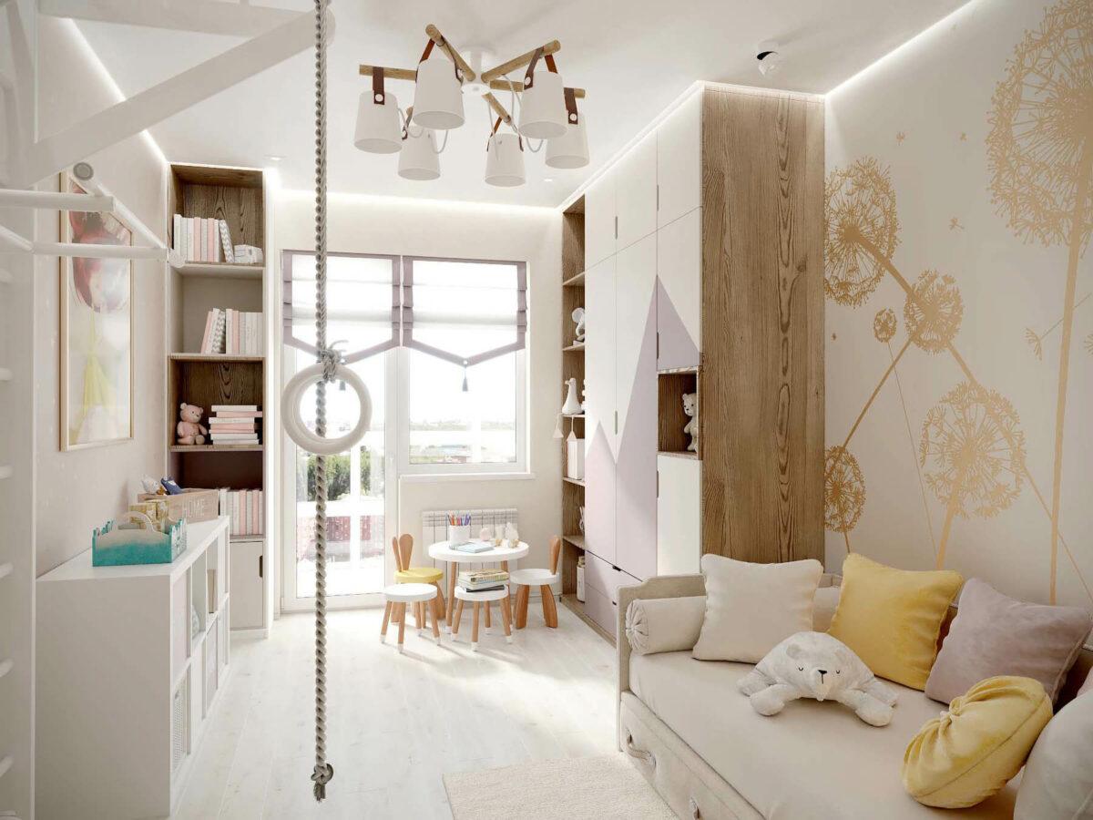 Мебель в детскую спальню девочки проект 3553-1