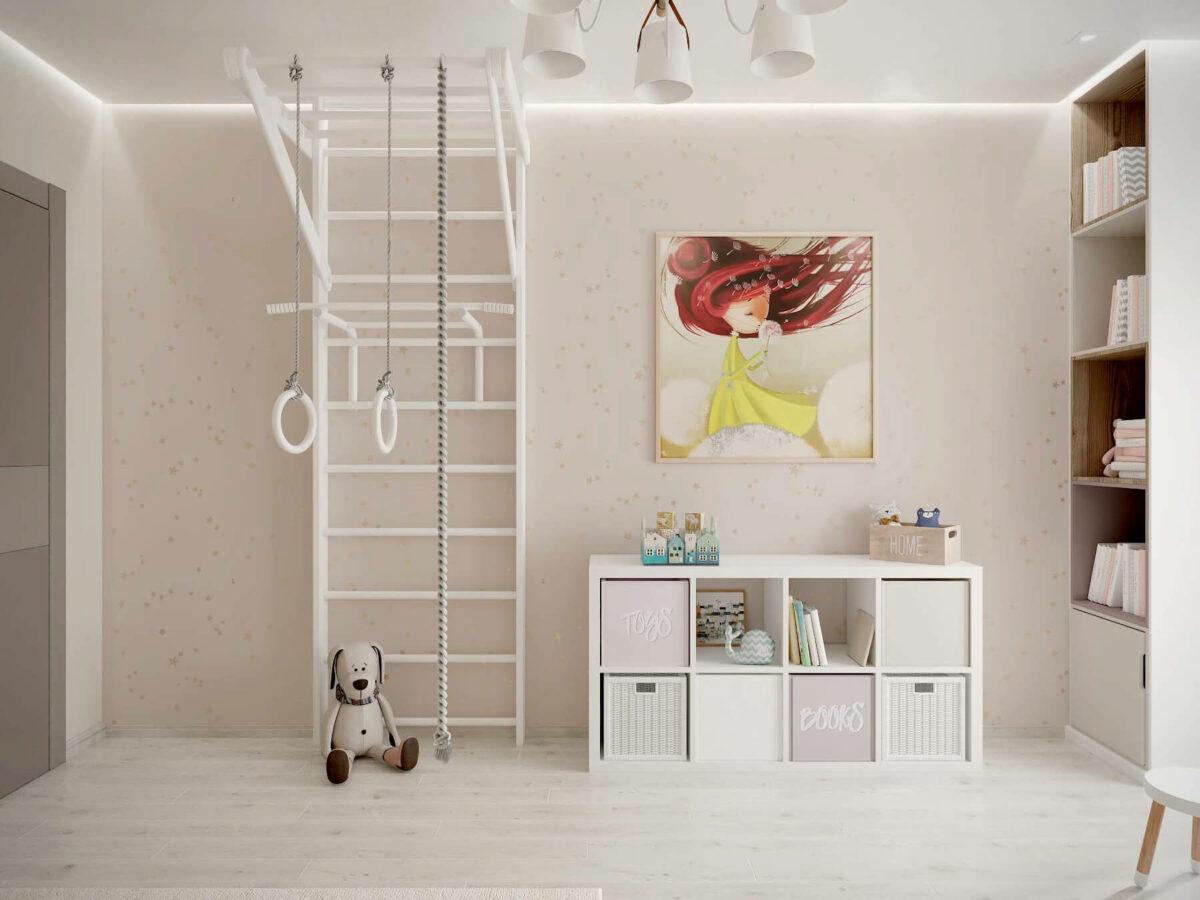 Мебель в детскую спальню девочки проект 3553-3